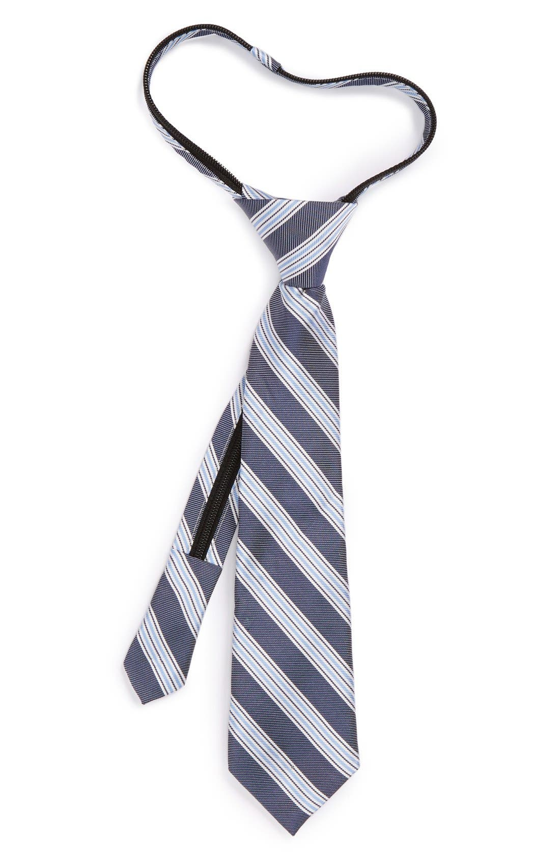 Alternate Image 1 Selected - Nordstrom Racing Stripe Zip Tie (Little Boys)