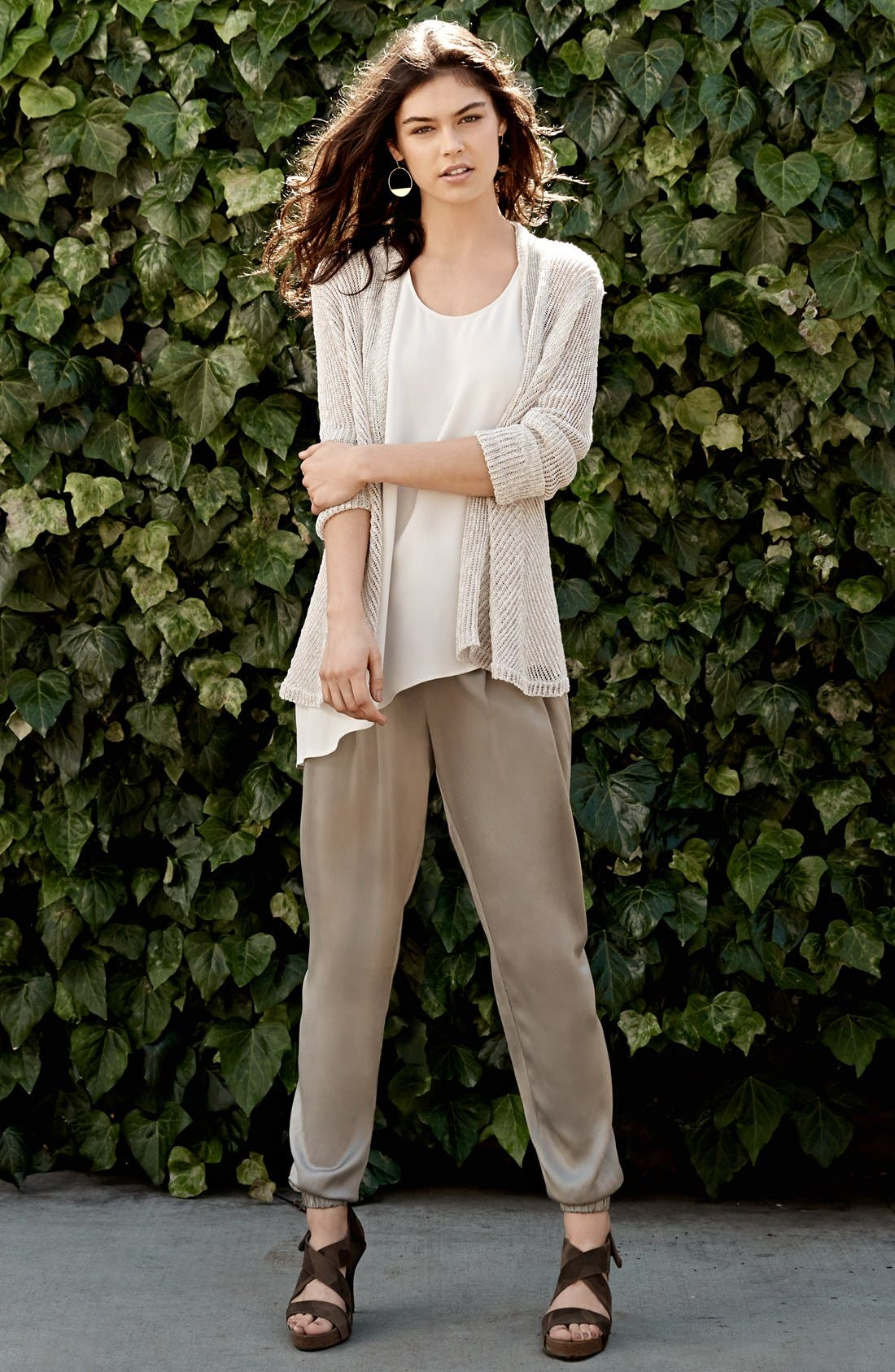 Alternate Image 5  - Eileen Fisher Silk Charmeuse Drawstring Ankle Pants