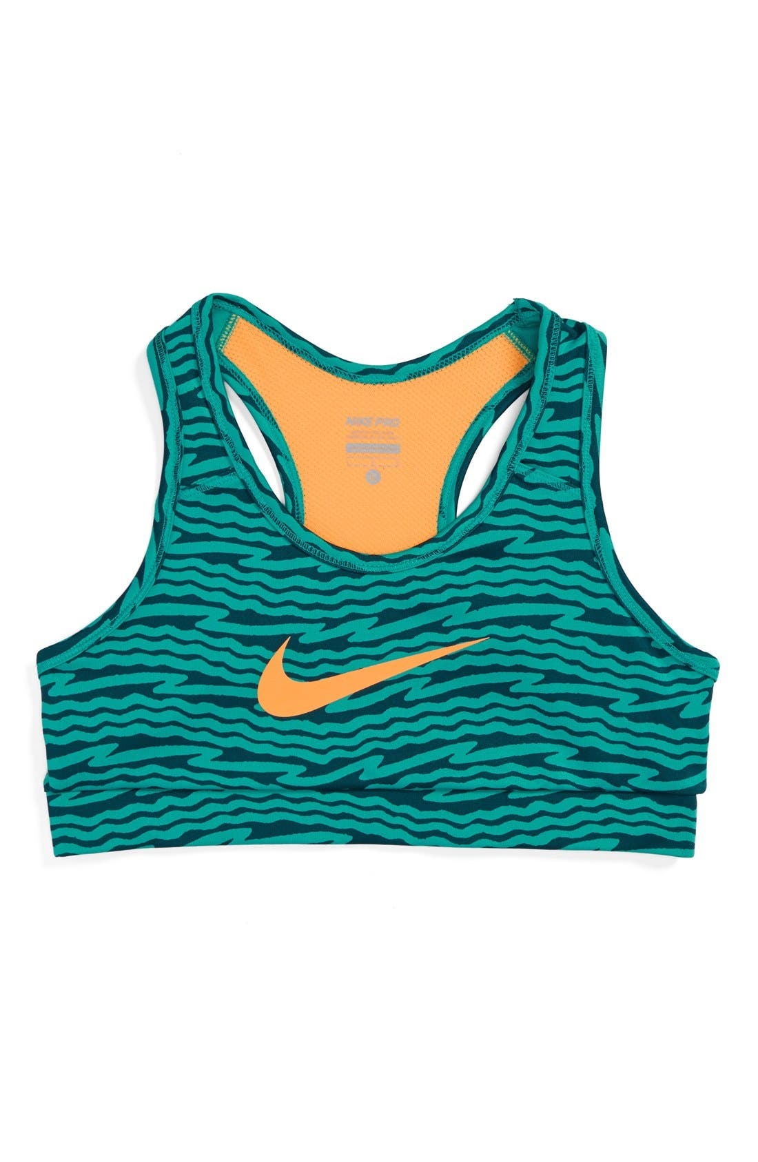 Alternate Image 1 Selected - Nike 'Hypercool GFX' Dri-FIT Bra (Little Girls & Big Girls)