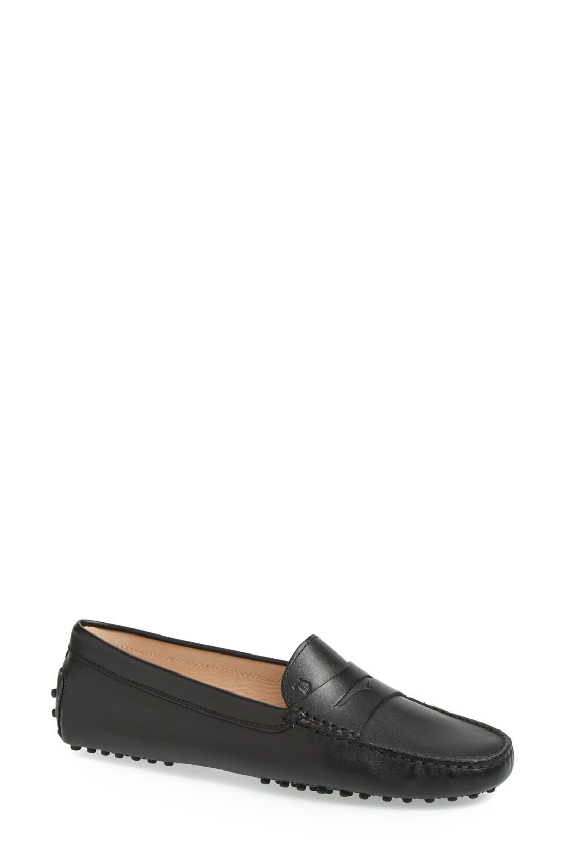'Gommini' Driving Moccasin,                         Main,                         color, Black