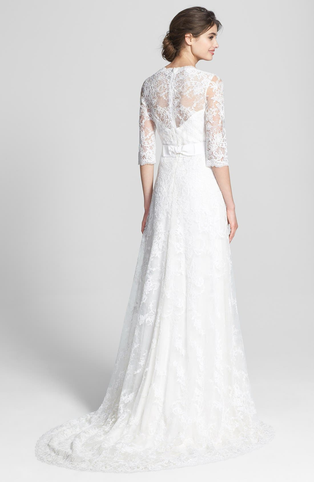 Alternate Image 2  - Marchesa Corded Lace Dress (In Stores Only)