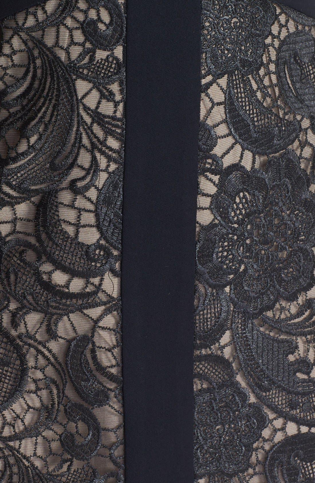 Alternate Image 4  - ML Monique Lhuillier Lace Sheath Dress