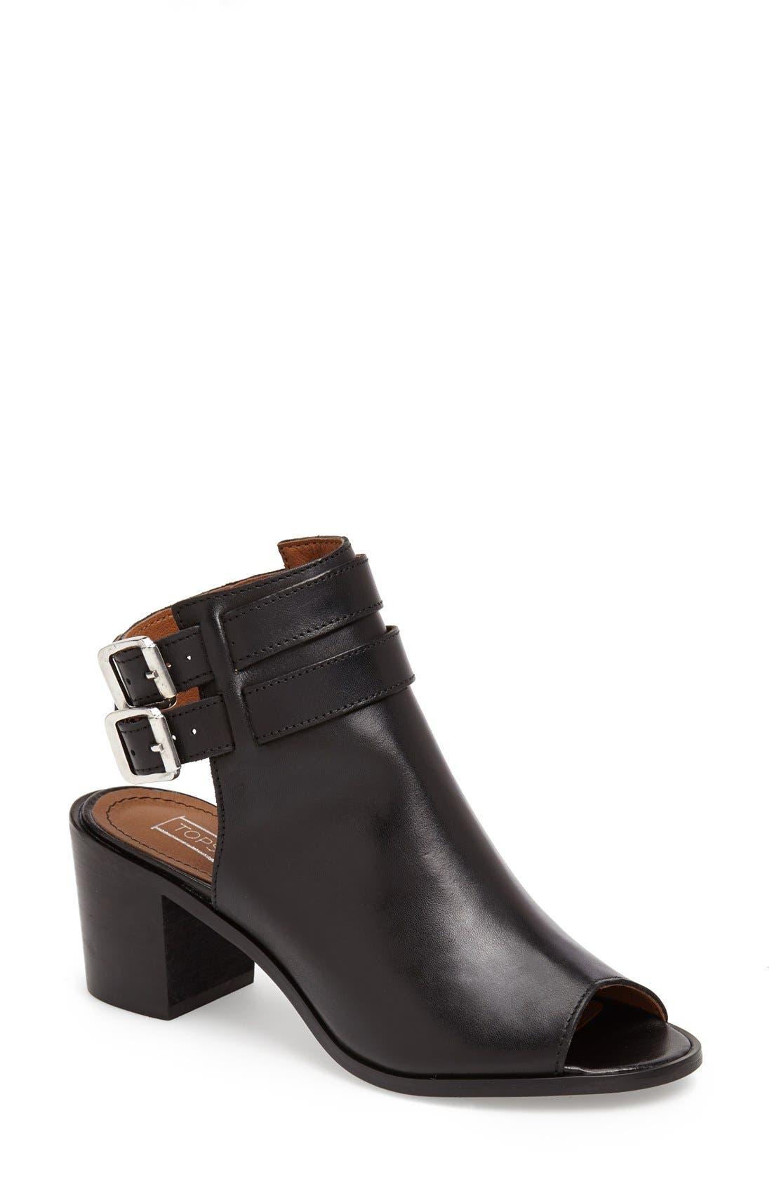 'Jolie' Bootie Sandal,                         Main,                         color, Black