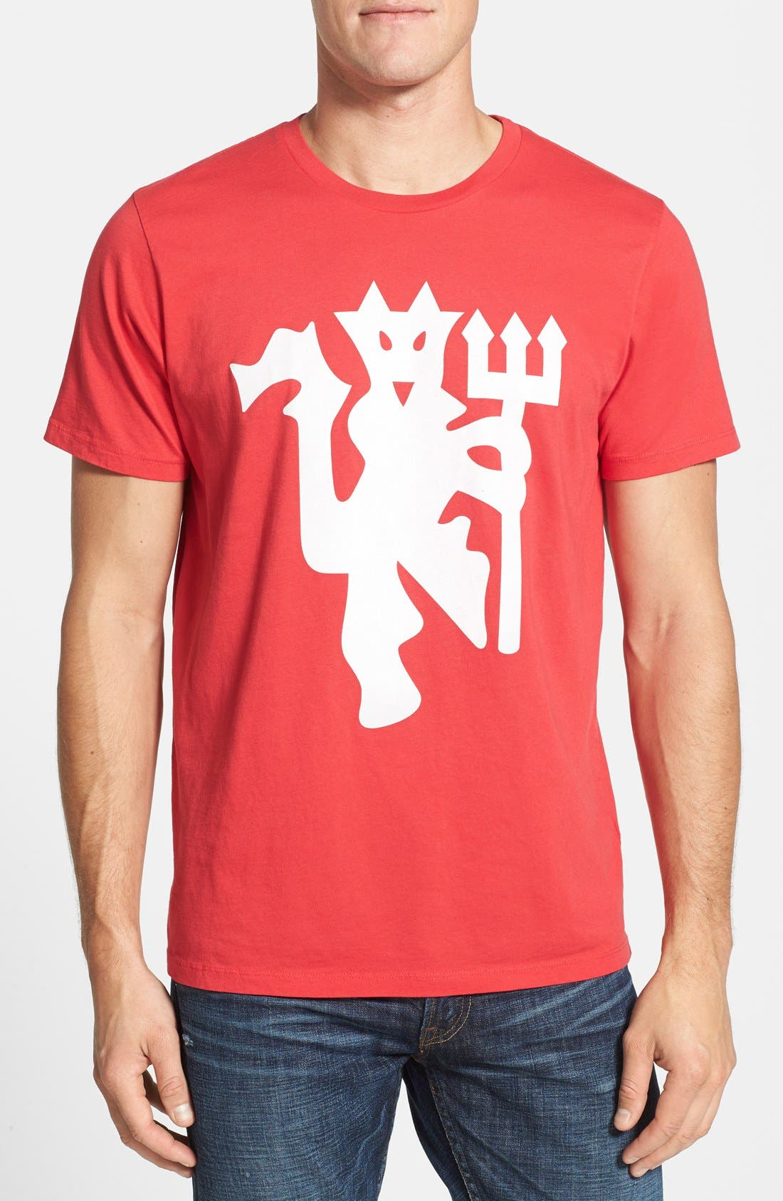 'Manchester United FC' Graphic T-Shirt,                         Main,                         color, Licorice