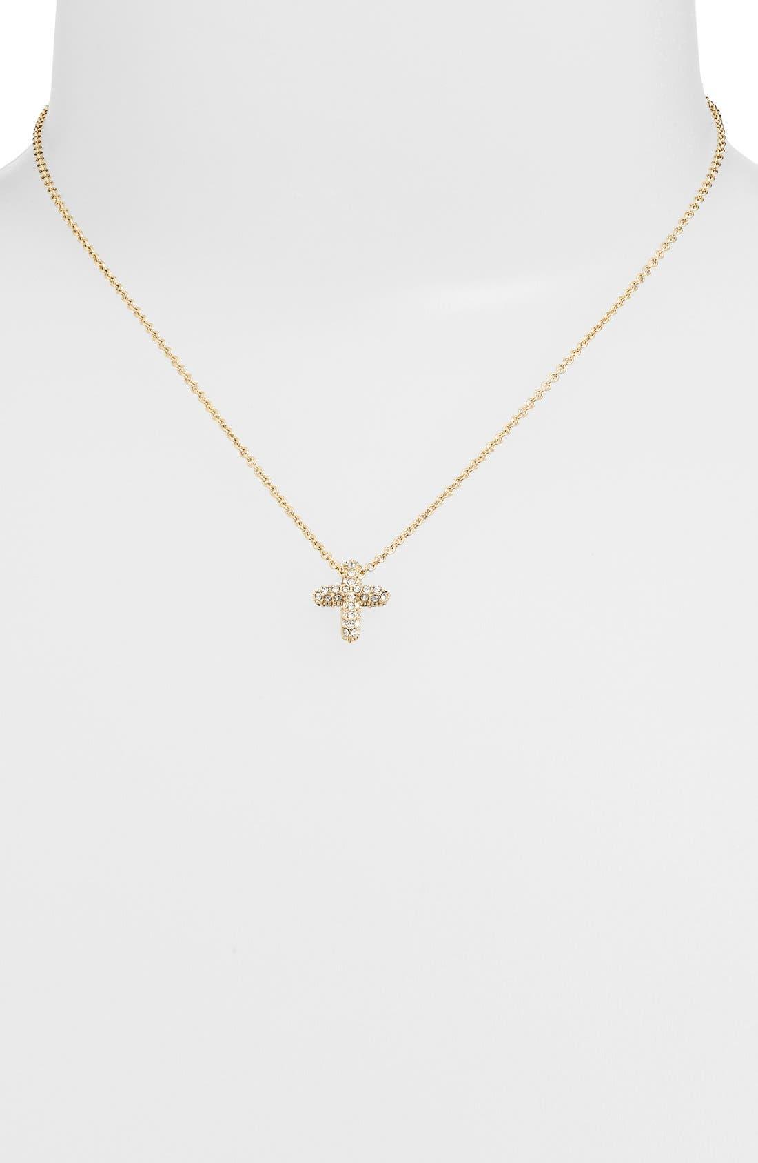 Alternate Image 1 Selected - Judith Jack Reversible Pavé Cross Pendant Necklace
