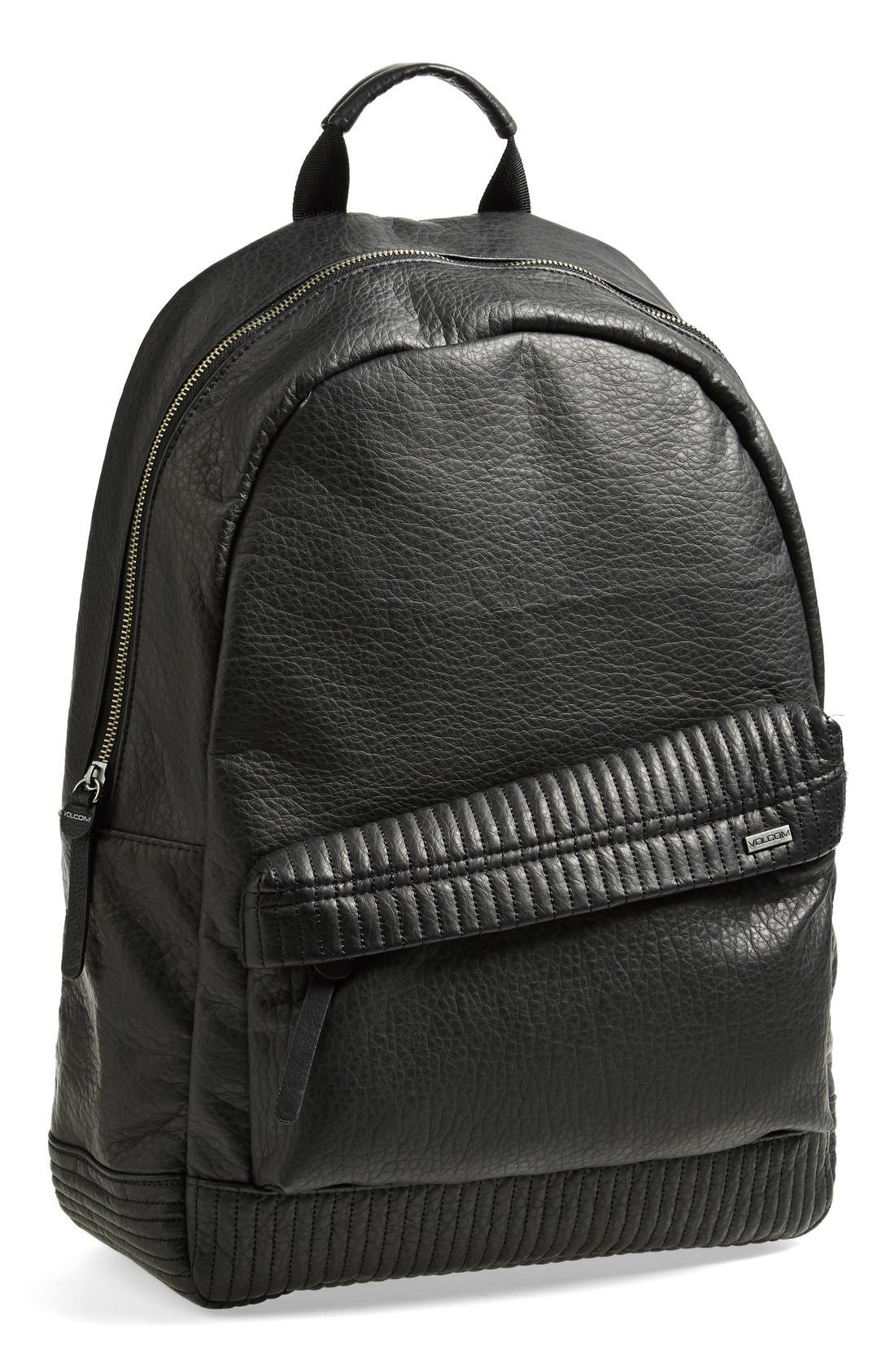 Alternate Image 1 Selected - Volcom Faux Leather Backpack