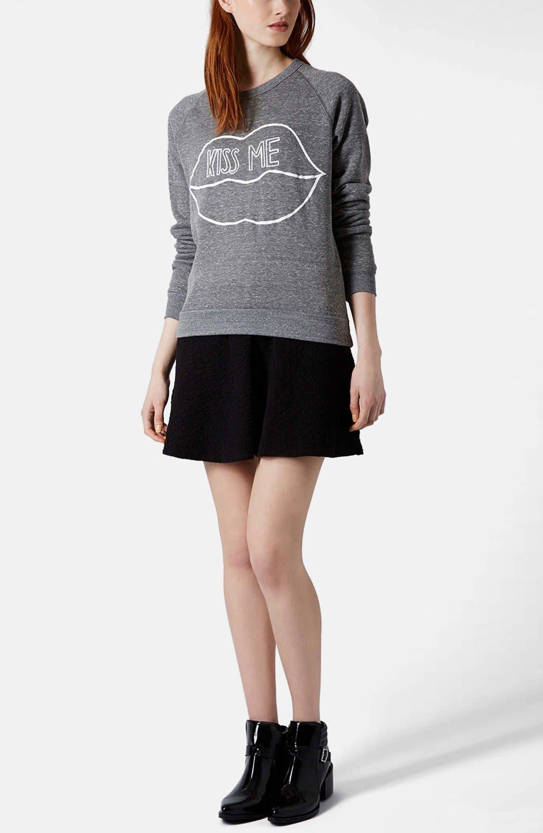 Alternate Image 5  - Topshop Jacquard Skater Skirt