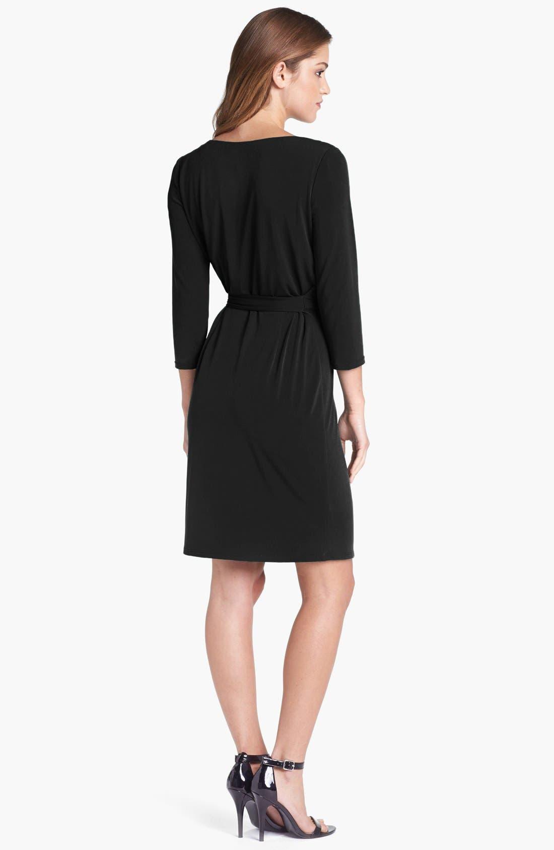 Alternate Image 2  - Ivy & Blu Jersey Faux Wrap Dress
