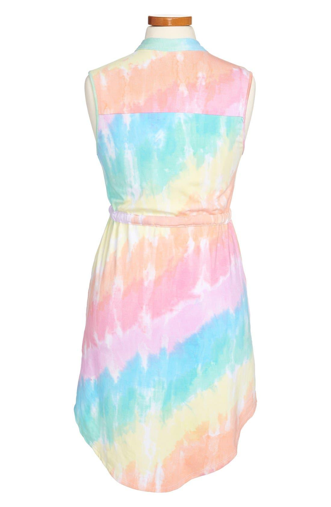 Alternate Image 2  - Flowers by Zoe Tie Dye Sleeveless Dress (Big Girls)