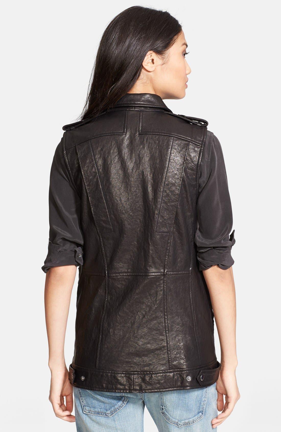 Alternate Image 2  - Truth & Pride 'Studied' Leather Vest.