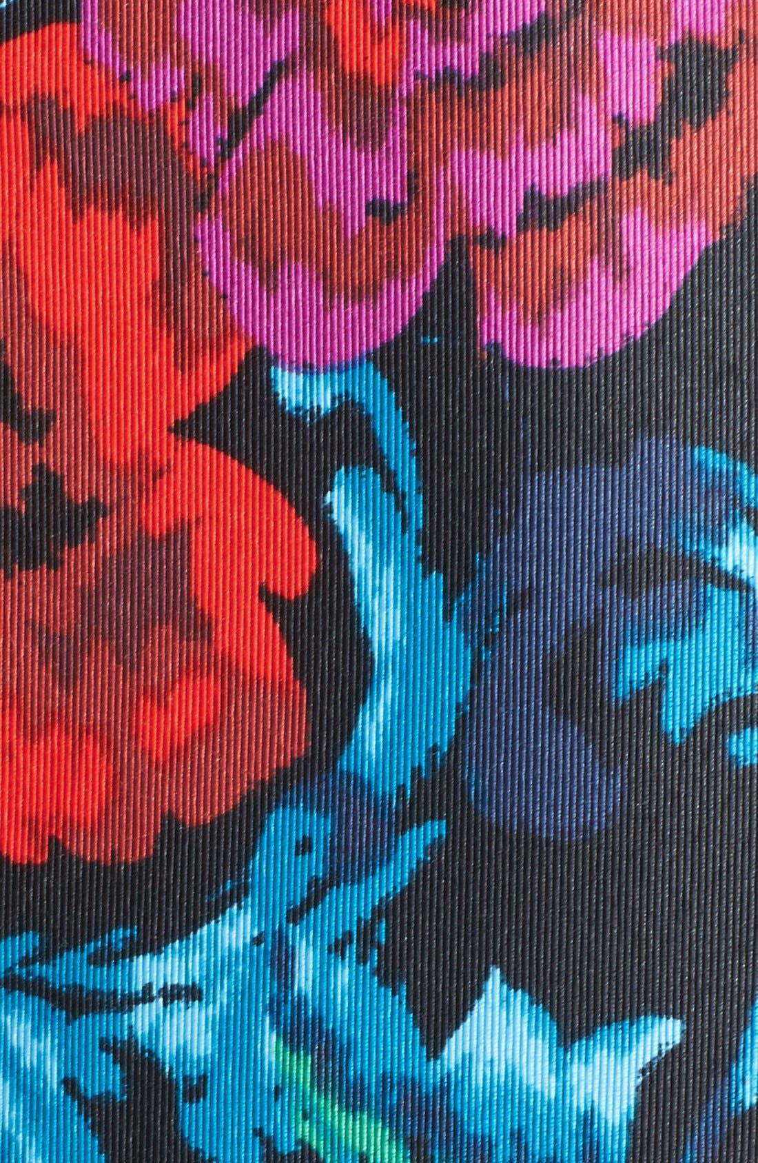 Alternate Image 4  - Eliza J Floral Print Pleat Fit & Flare Dress (Regular & Petite)
