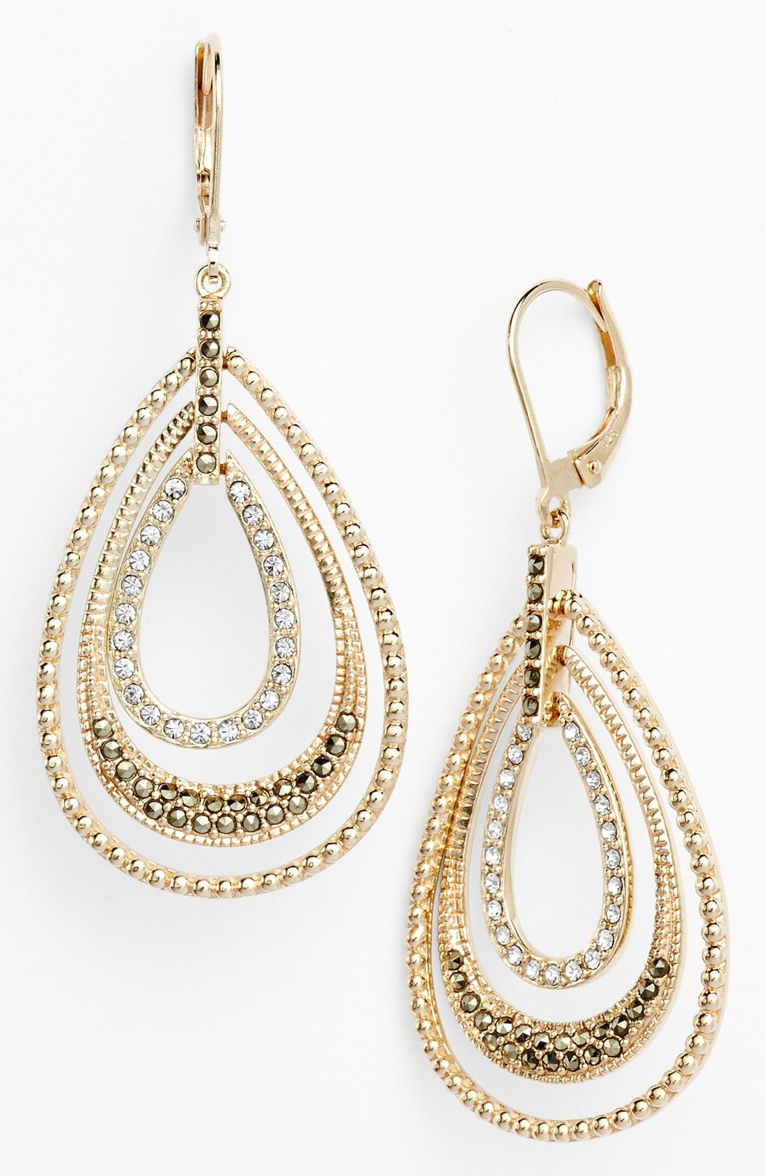 Main Image - Judith Jack Orbital Triple Teardrop Hoop Earrings