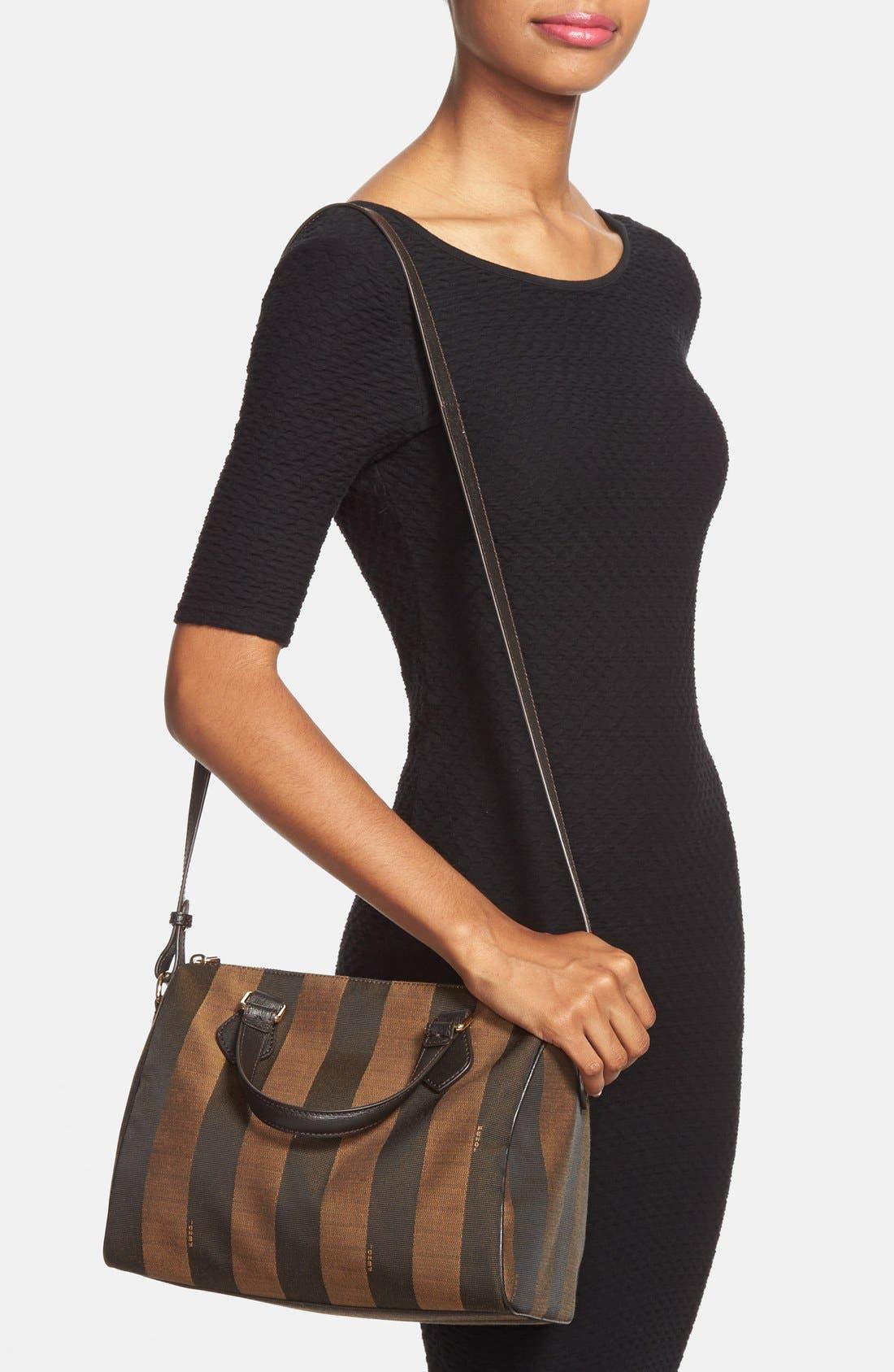 Alternate Image 2  - Fendi 'Small Pequin' Logo Jacquard Shoulder Bag