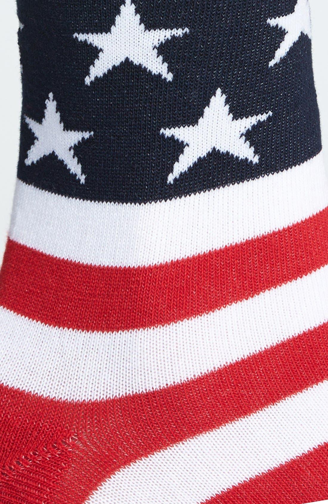 Alternate Image 2  - K. Bell Socks 'American Flag' Crew Socks