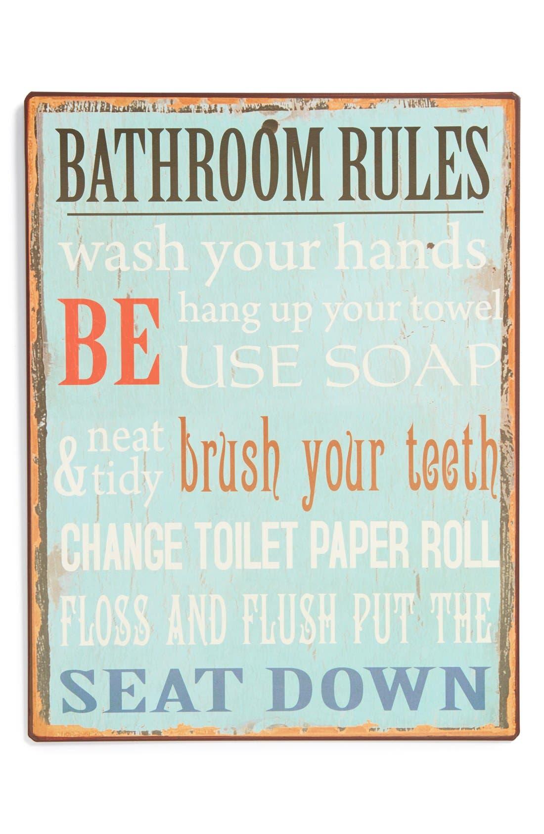 Alternate Image 1 Selected - VIP International 'Bathroom Rules' Wall Art