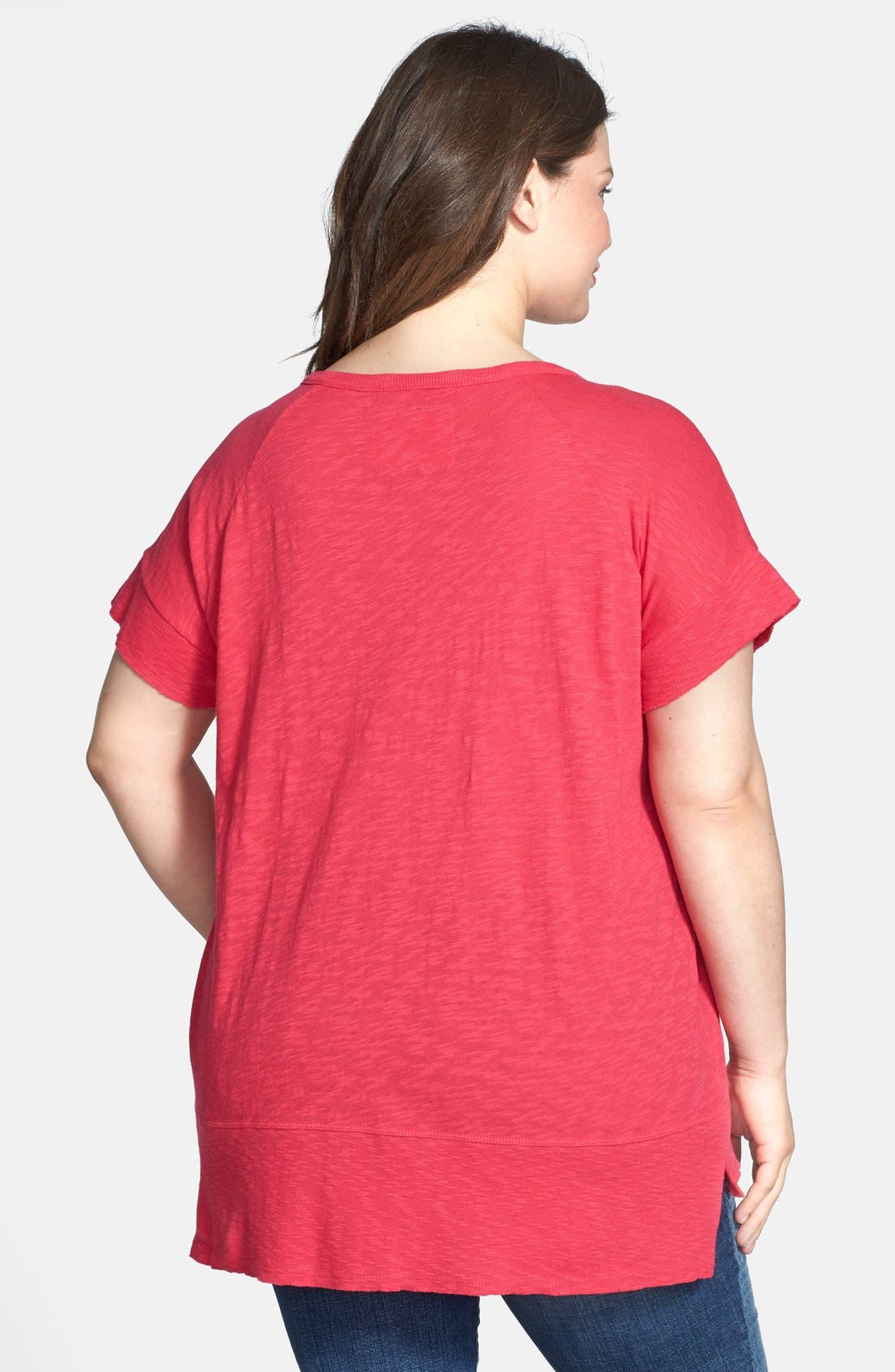 Alternate Image 2  - DKNY Jeans 'East West Slouchy Summer' Knit Top (Plus Size)