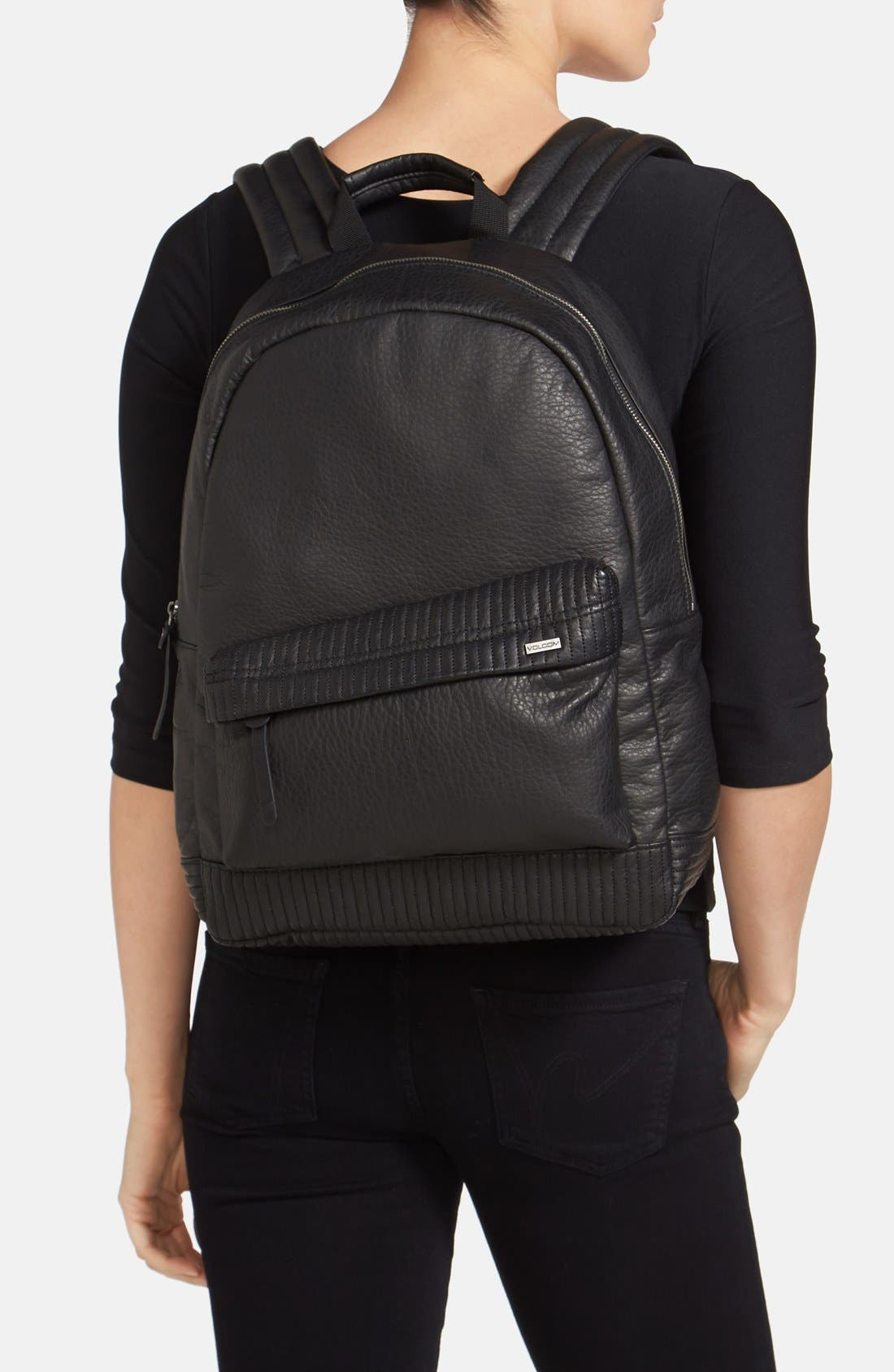 Alternate Image 2  - Volcom Faux Leather Backpack