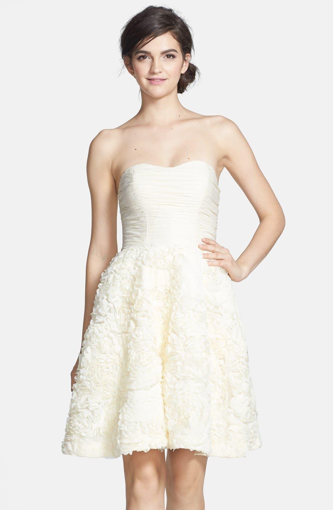 Alternate Image 1 Selected - Ted Baker London 'Flawra' Rosette Detail Fit & Flare Dress