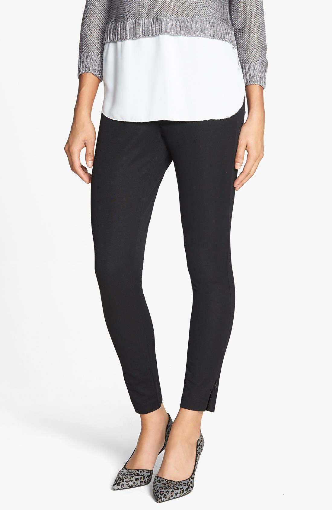 Alternate Image 1 Selected - SPANX® 'Ready to Wow' Stretch Twill Control Top Leggings