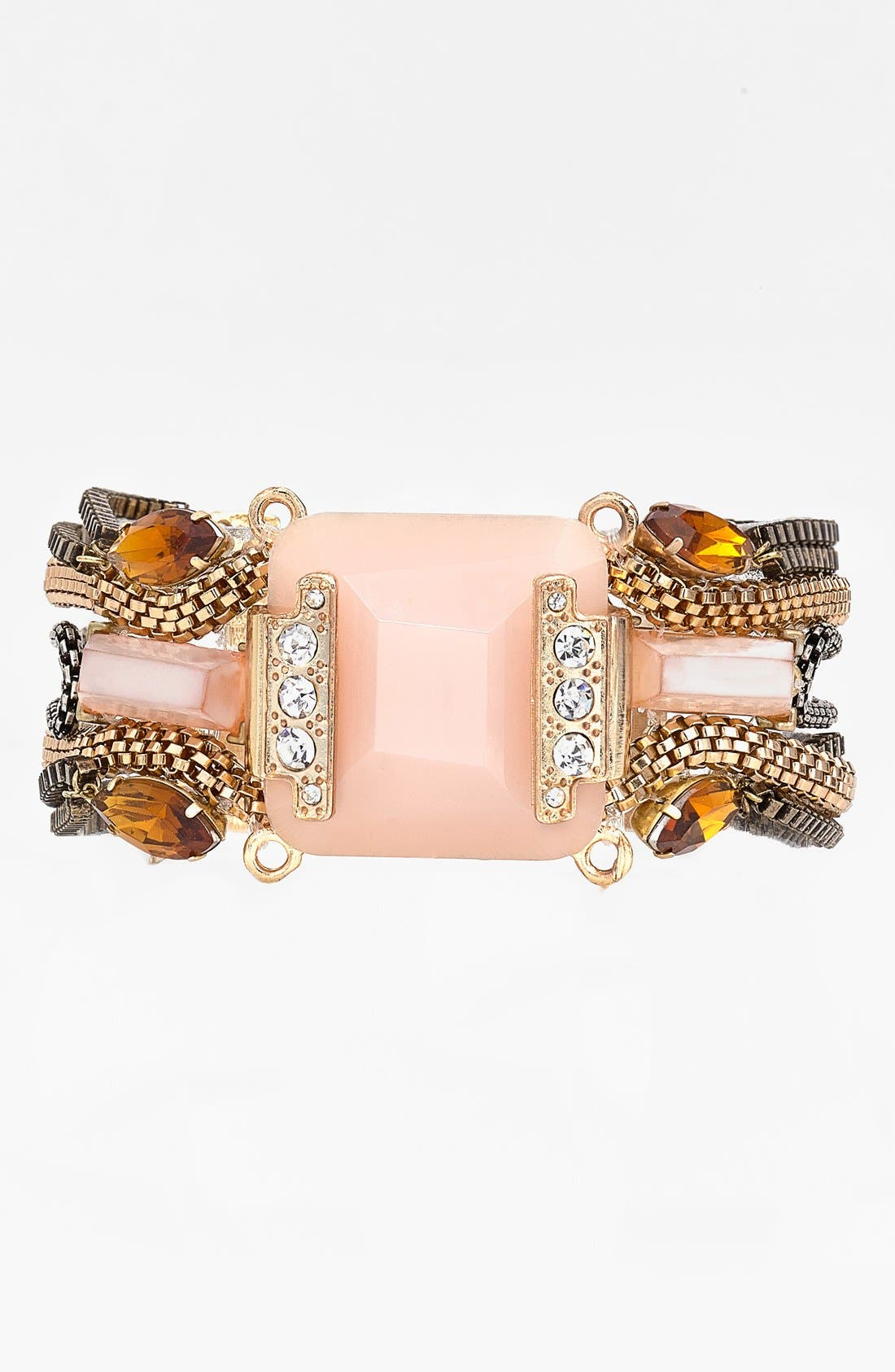 Main Image - Berry Mixed Chain & Stone Bracelet