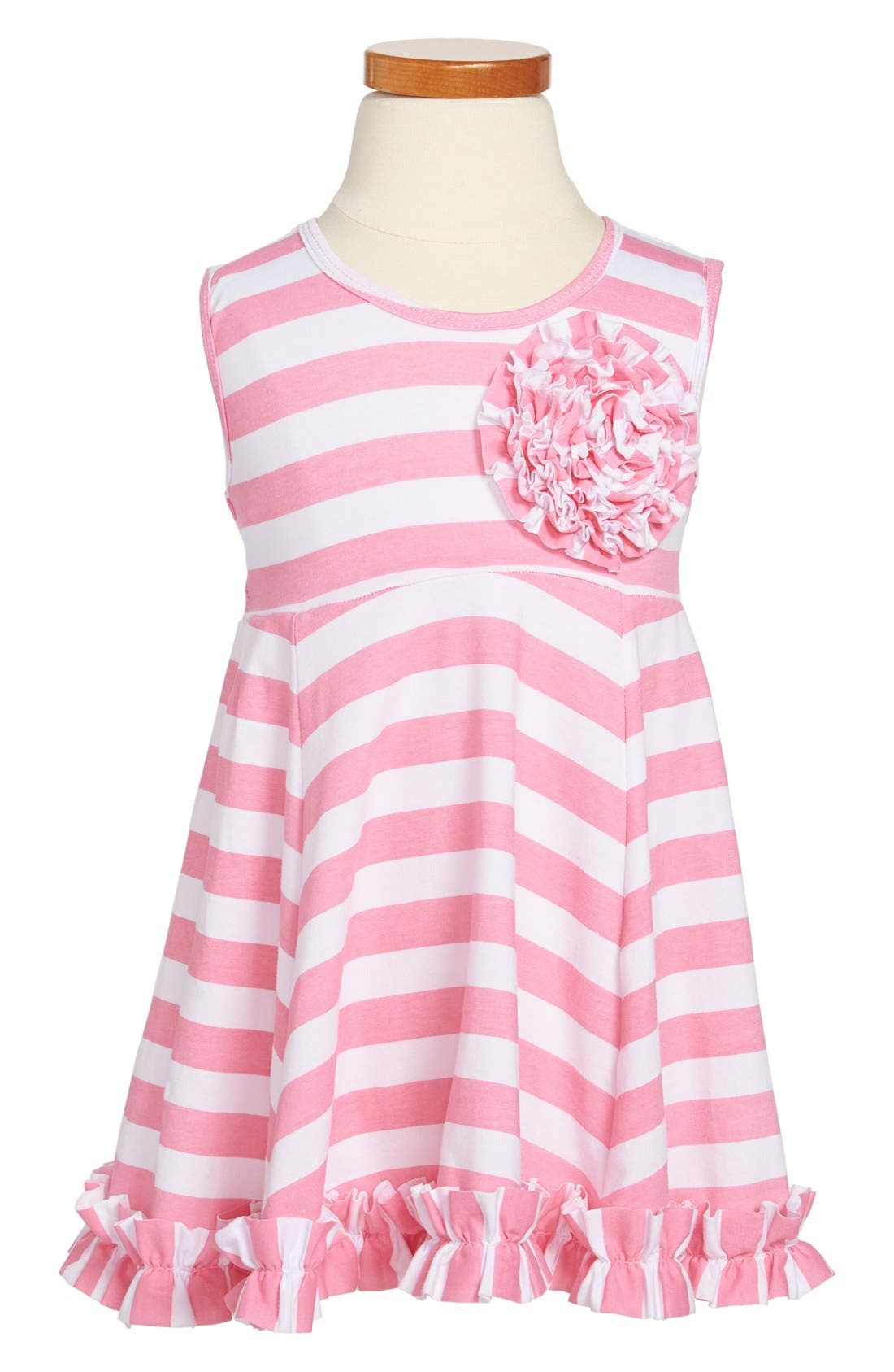 Alternate Image 1 Selected - Popatu Stripe Tank Dress (Toddler Girls)