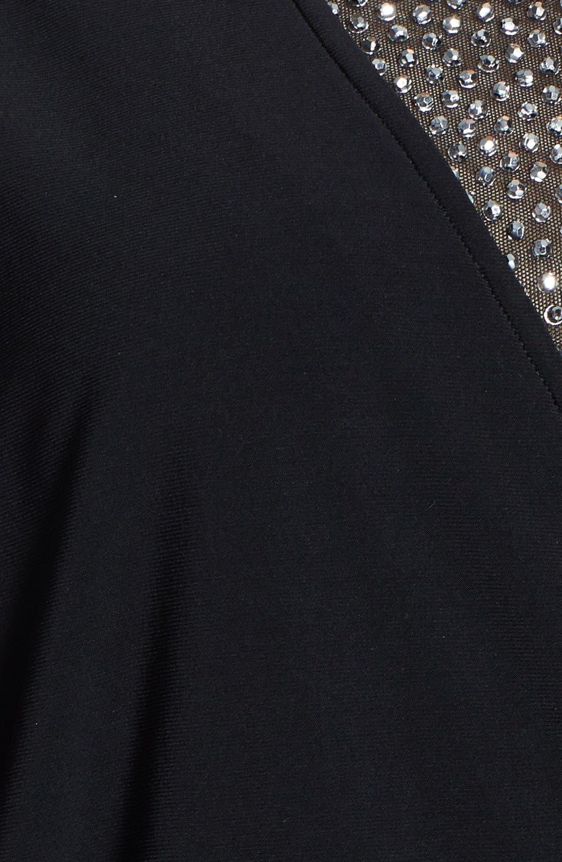 Alternate Image 3  - Xscape Embellished Inset Blouson Jumpsuit (Plus Size)