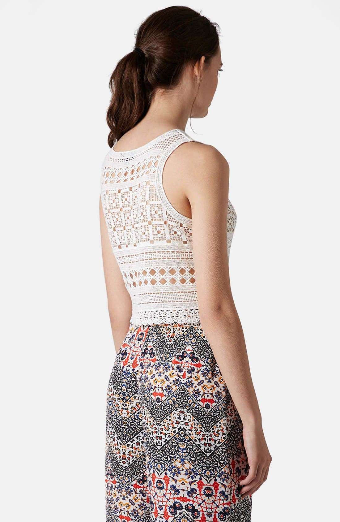 Alternate Image 2  - Topshop Crochet Tank