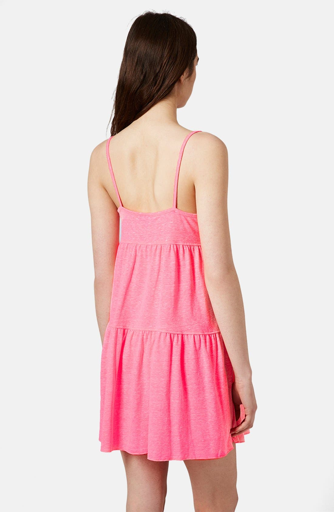 Alternate Image 2  - Topshop Tiered Slub Knit Dress