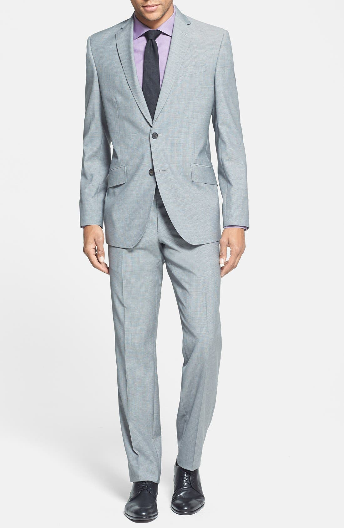Alternate Image 1 Selected - Ted Baker London 'Jones' Trim Fit Wool Suit