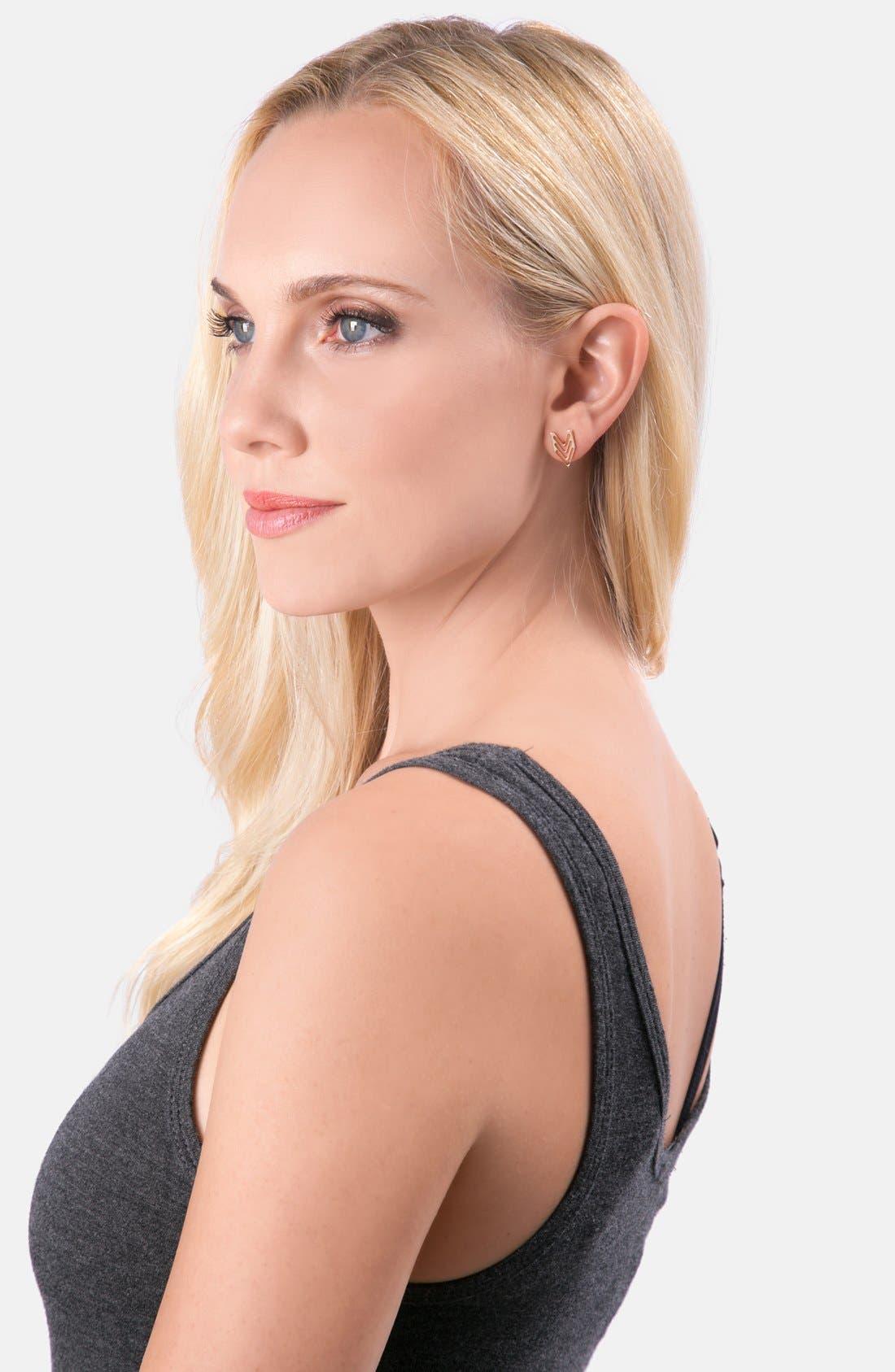 Alternate Image 2  - gorjana Chevron Stud Earrings