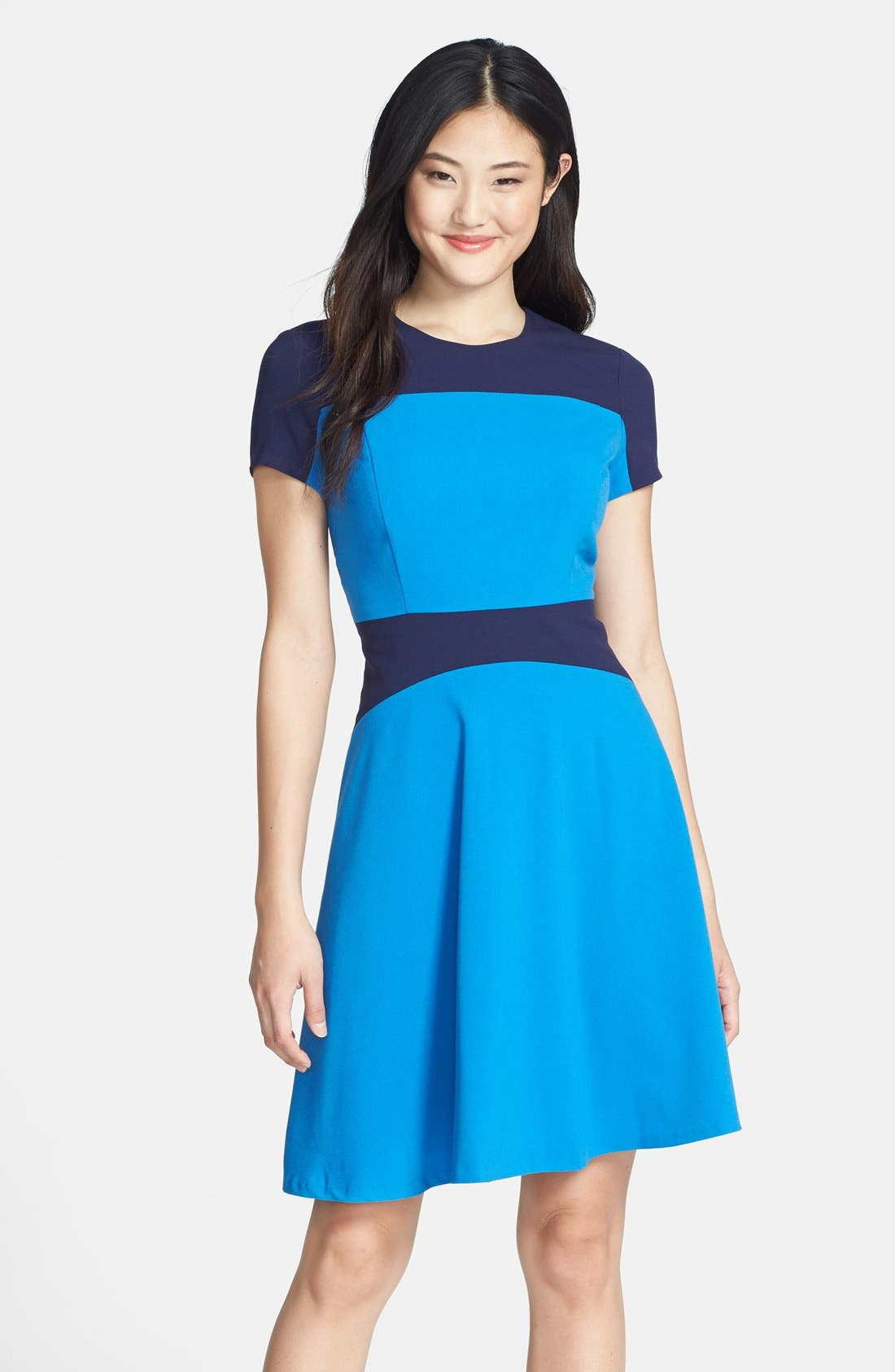 Main Image - Marc New York by Andrew Marc Two-Tone Fit & Flare Dress