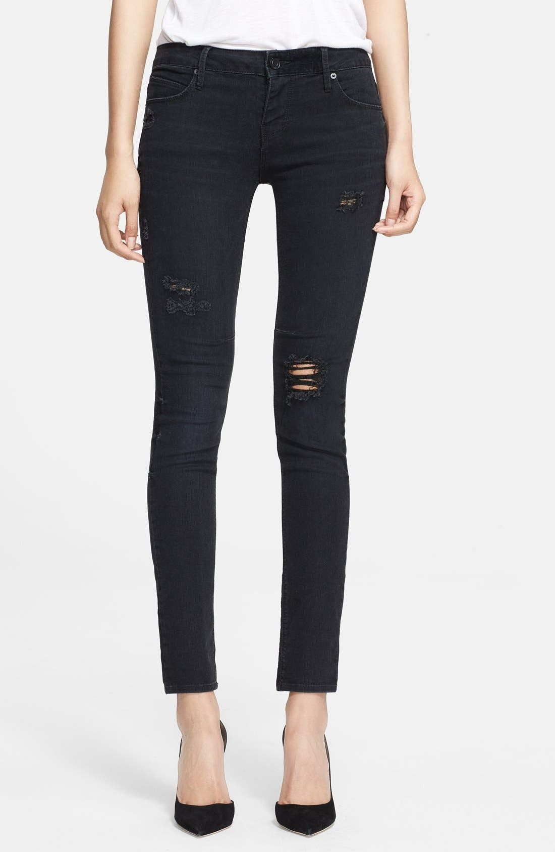 Main Image - RtA Skinny Jeans (Black Destroyed)