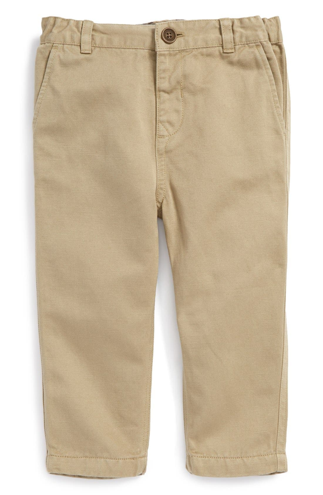 Alternate Image 1 Selected - Burberry Chino Pants (Baby Boys)