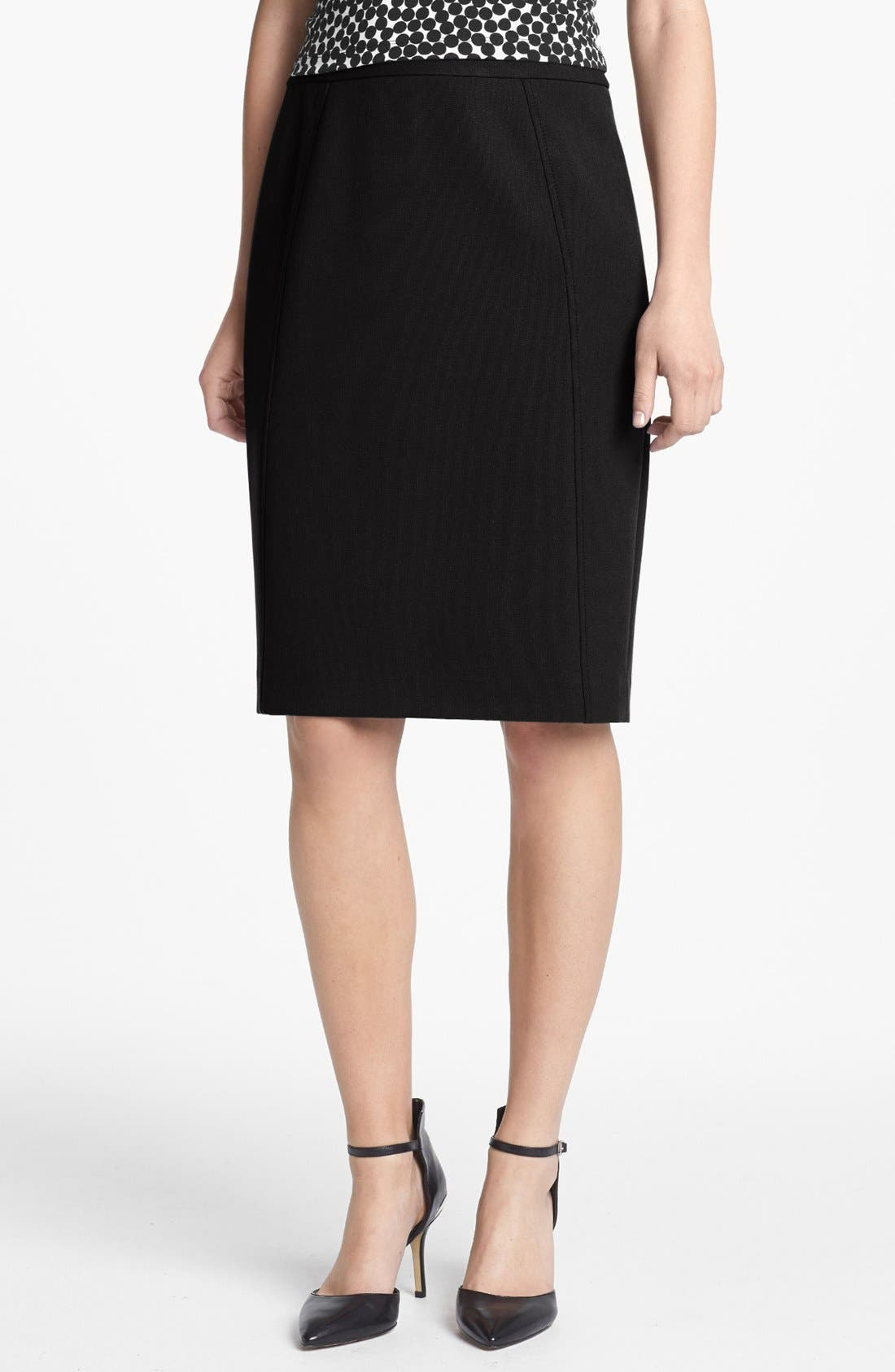 Alternate Image 1 Selected - Halogen® Seamed Pencil Skirt (Regular & Petite)