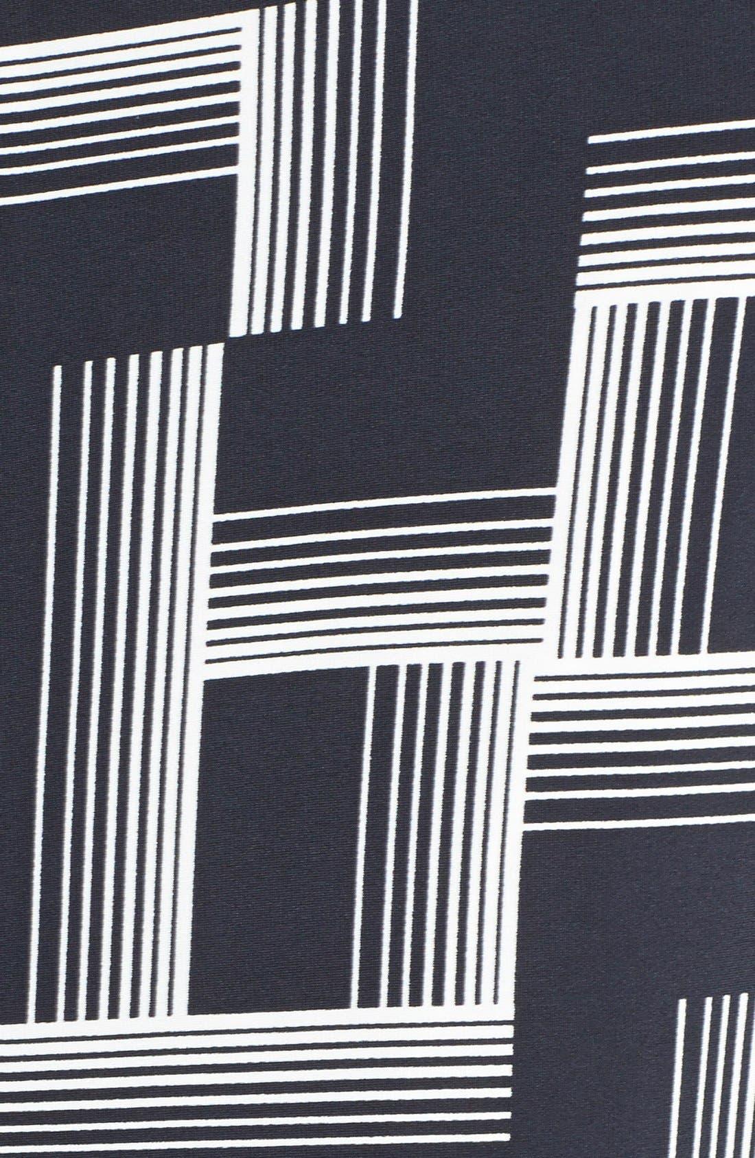 Alternate Image 3  - Eliza J Print Woven Trim Sheath Dress (Plus Size) (Online Only)