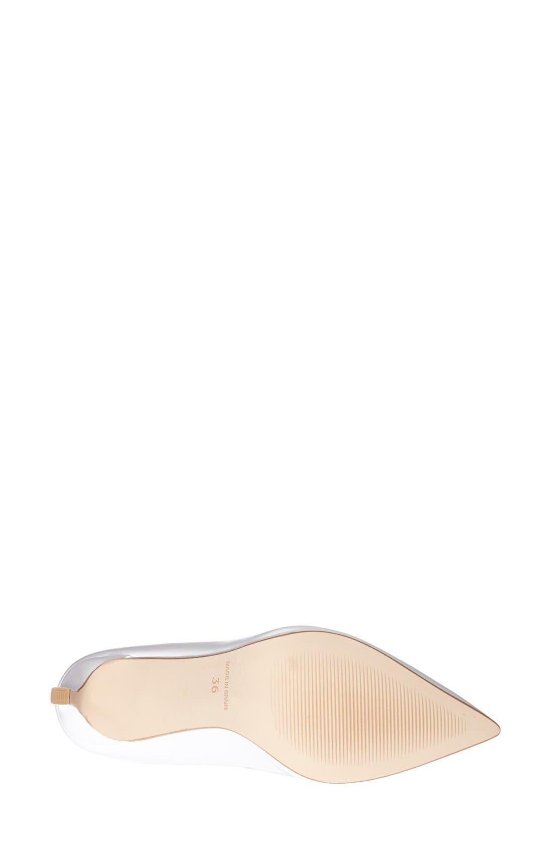 Alternate Image 4  - Topshop 'Golden' Pointy Toe Pump (Women)