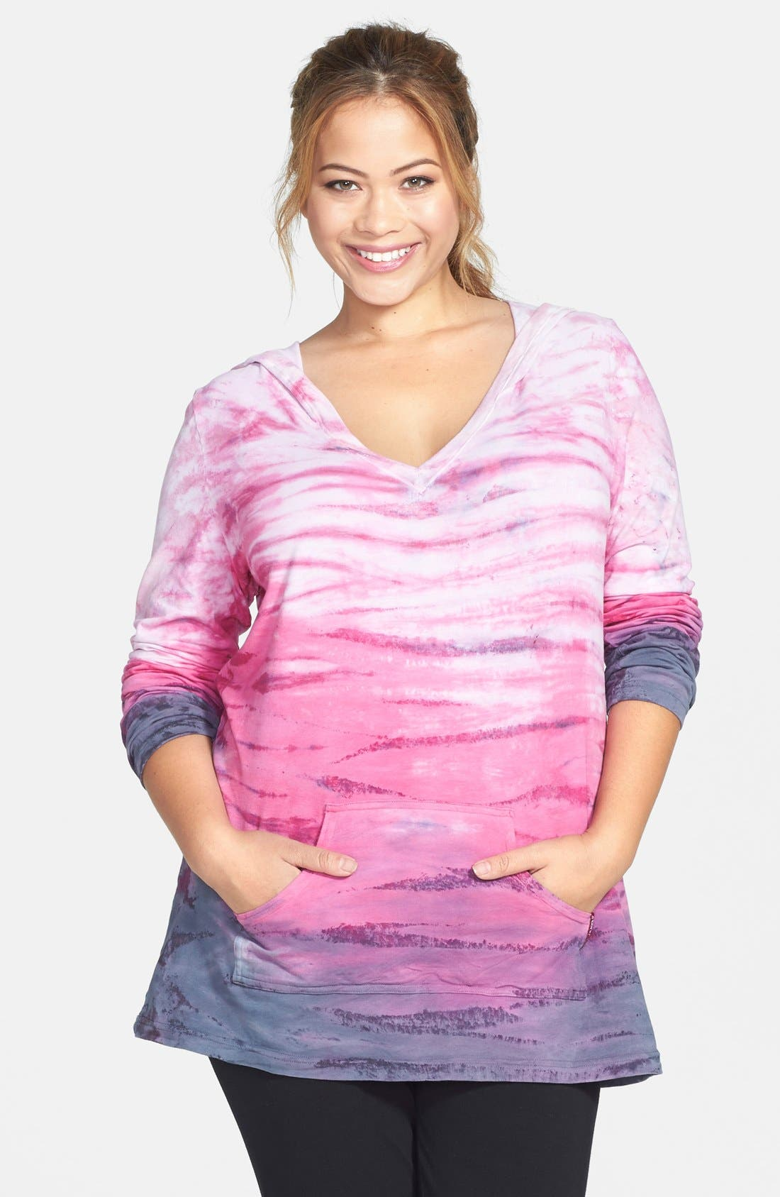 Main Image - Hard Tail Ombré Hoodie (Plus Size)