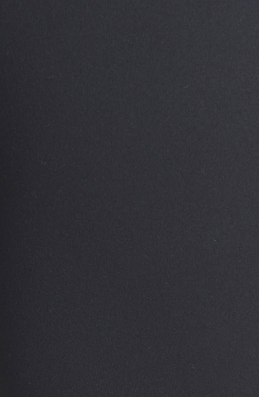 'Live In - Hot' Mesh Detail Capris,                             Alternate thumbnail 4, color,                             Black