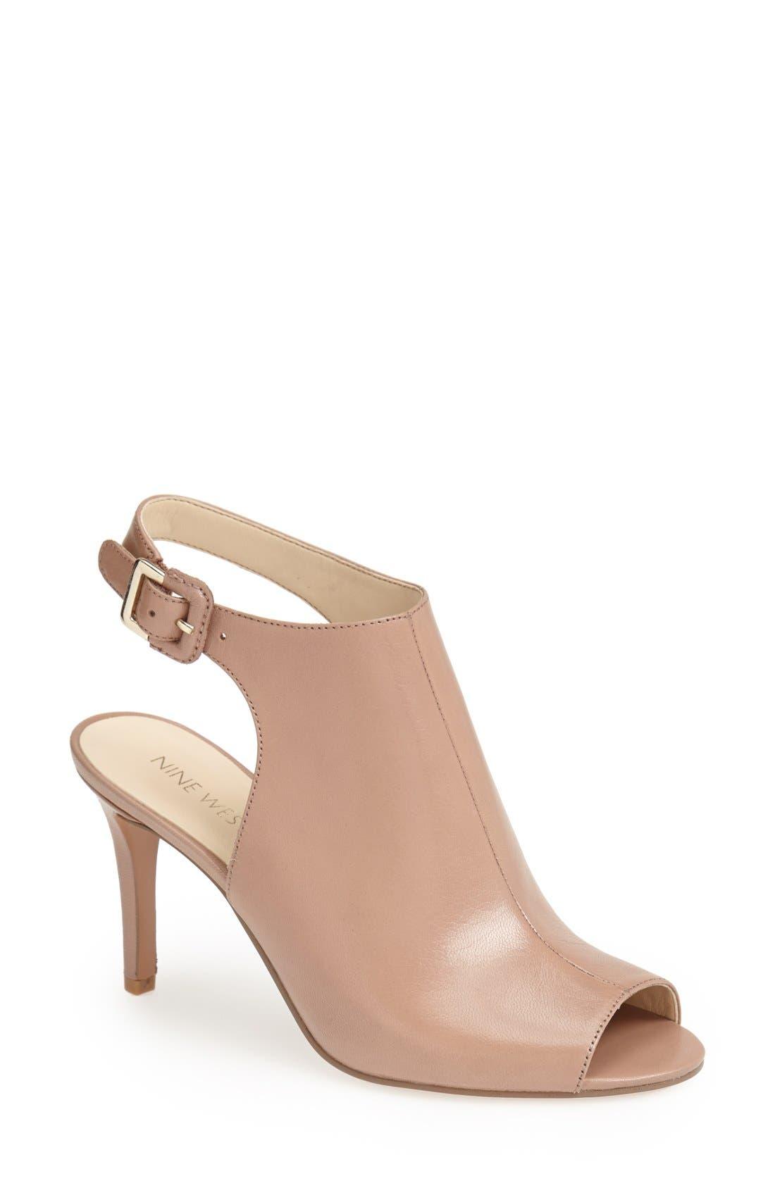 Alternate Image 1 Selected - Nine West 'Instafun' Leather Sandal (Women)