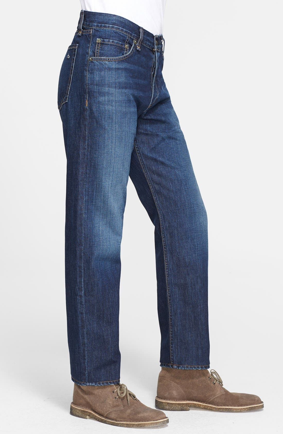 Alternate Image 3  - rag & bone 'RB15X' Slim Straight Leg Jeans (Berkely Blue)