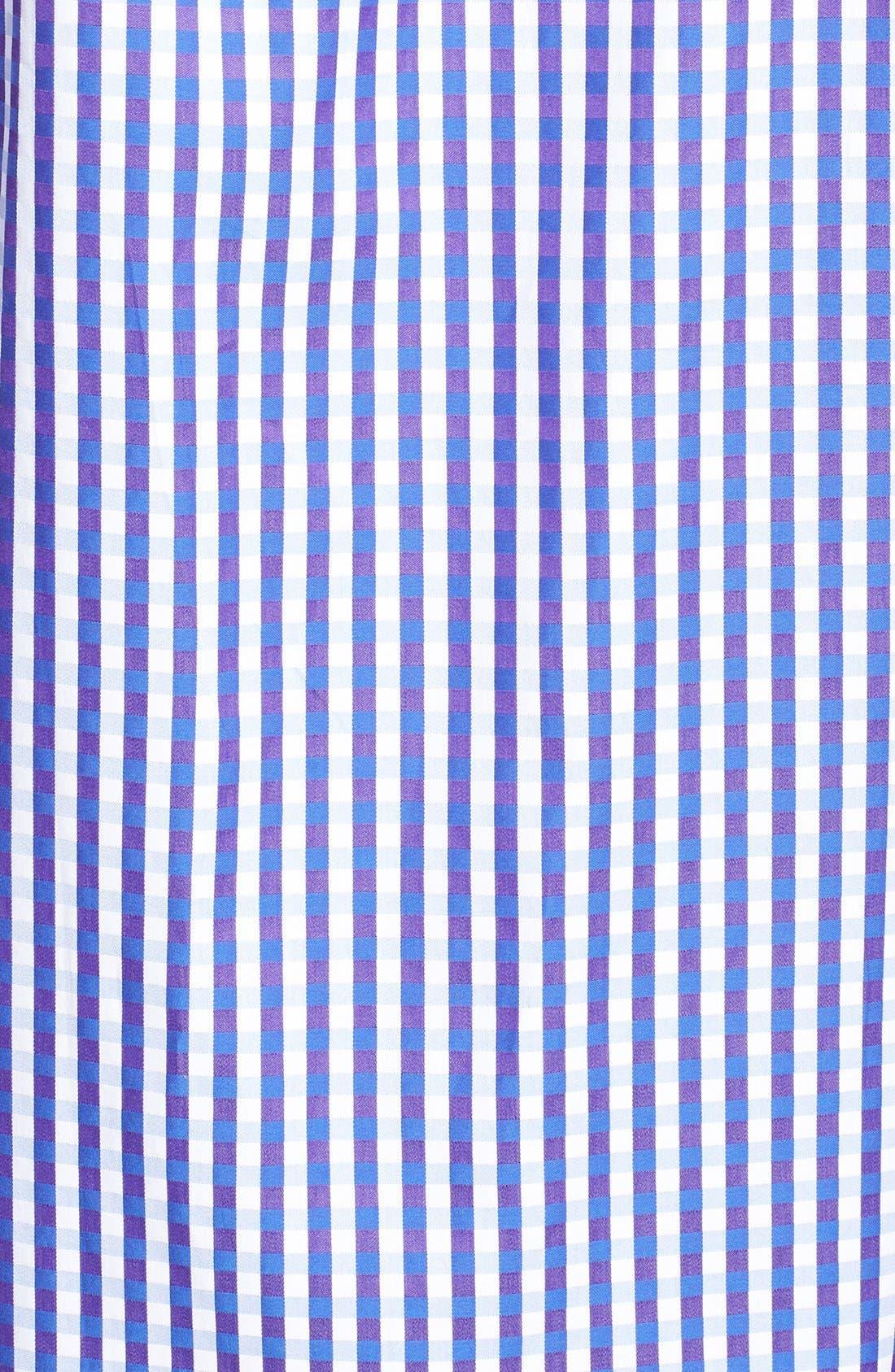 Alternate Image 3  - Bugatchi Classic Fit Plaid Sport Shirt (Tall)