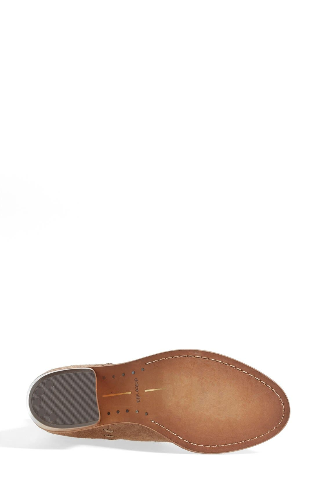 'Graham' Suede Bootie,                             Alternate thumbnail 4, color,                             Taupe Suede