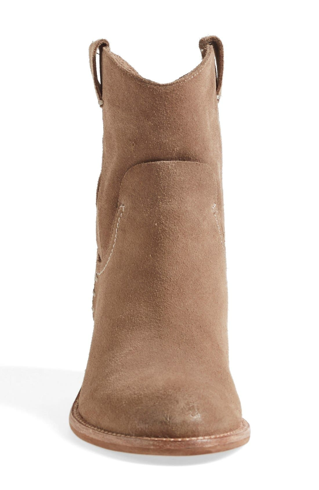 'Graham' Suede Bootie,                             Alternate thumbnail 3, color,                             Taupe Suede