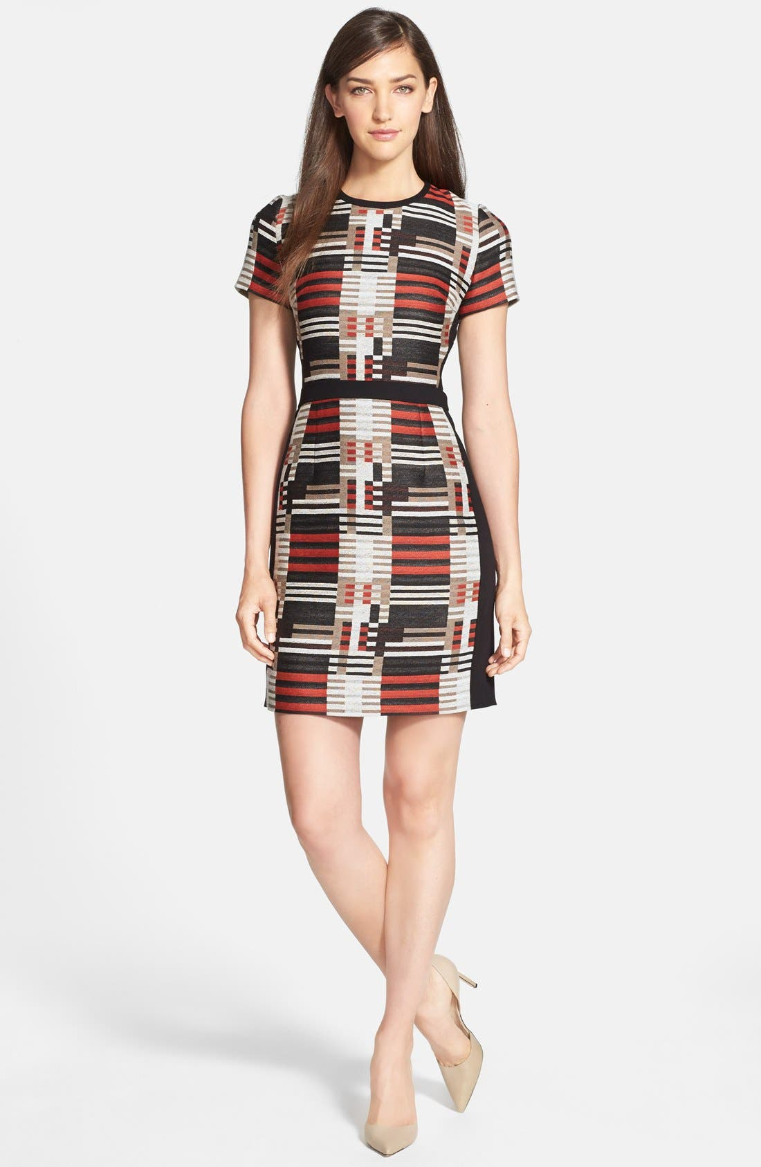 Main Image - BOSS 'Hesandra1' Tweed Pattern Sheath Dress