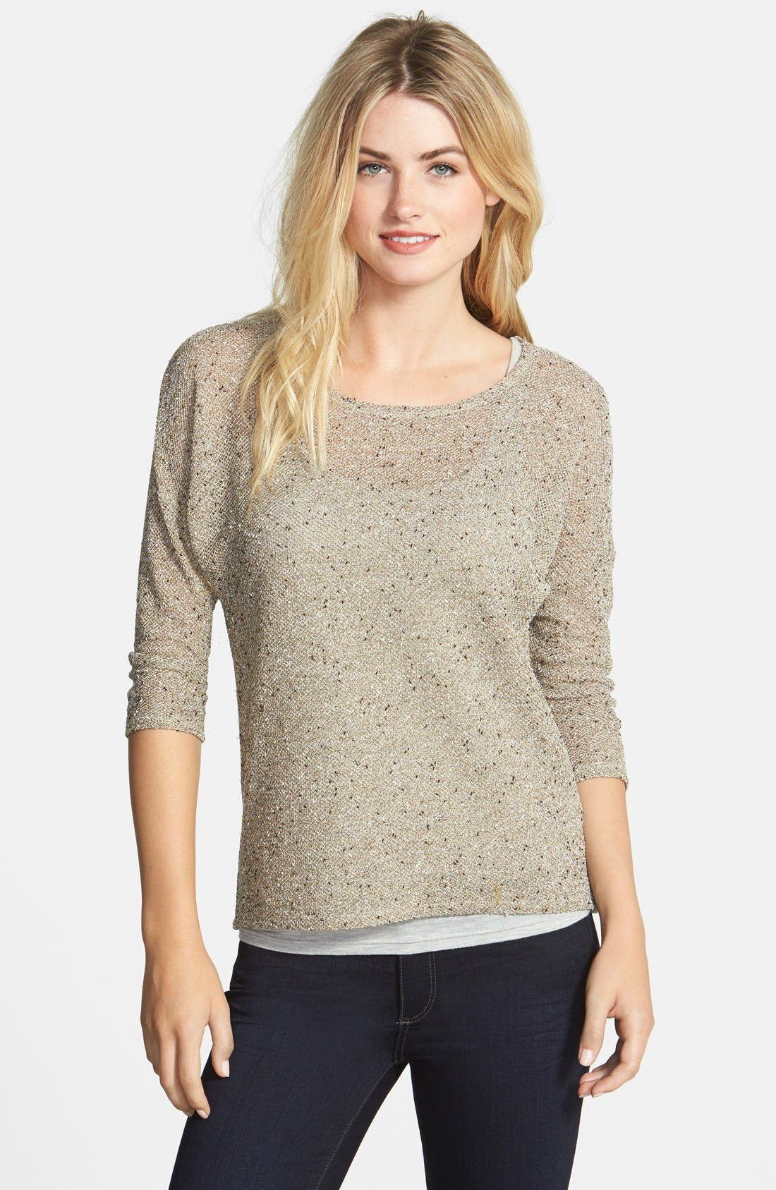 Alternate Image 1 Selected - Two by Vince Camuto Lurex® Speckled Top