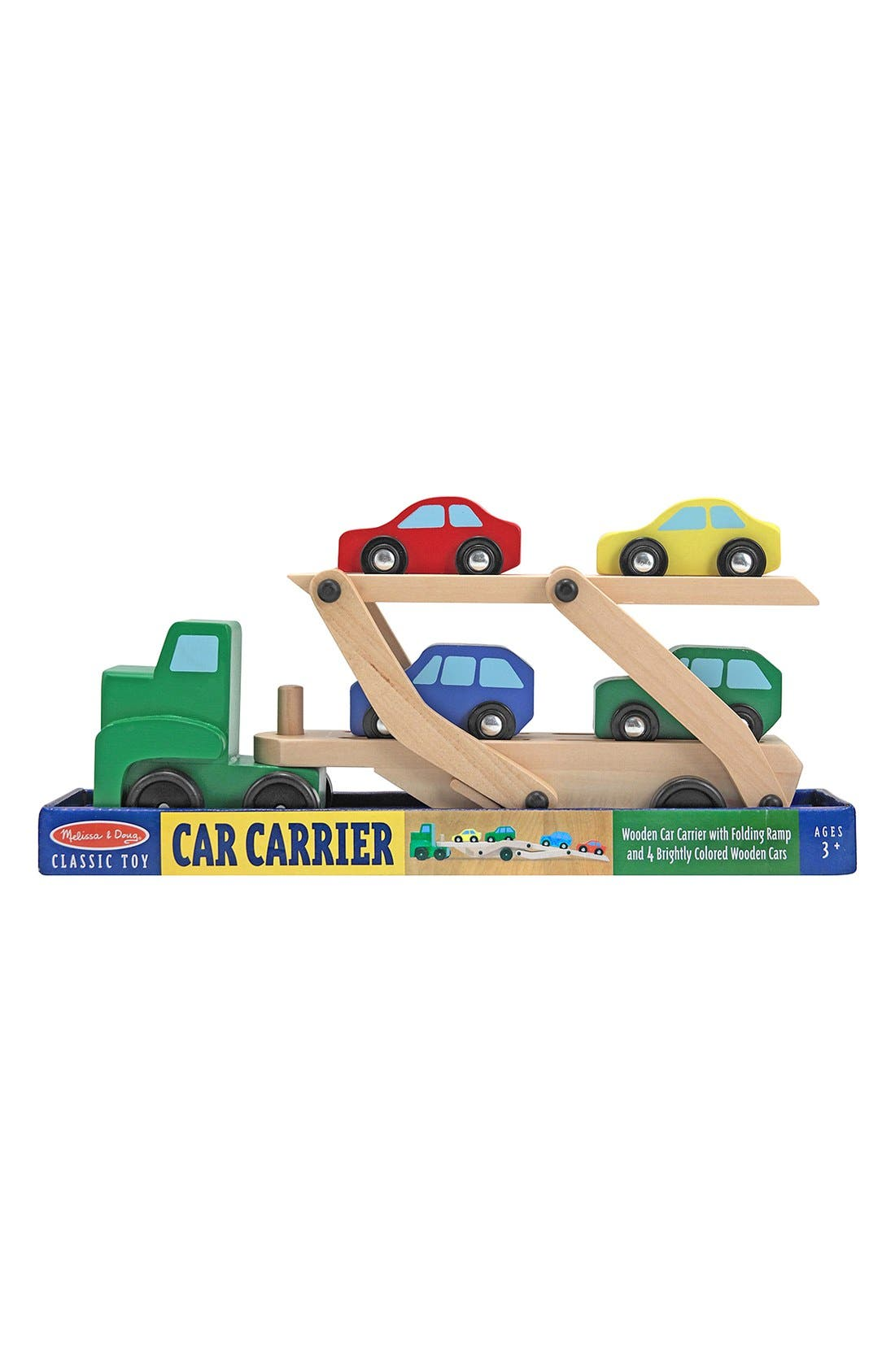 Personalized Wooden Car Carrier,                             Main thumbnail 1, color,                             Green