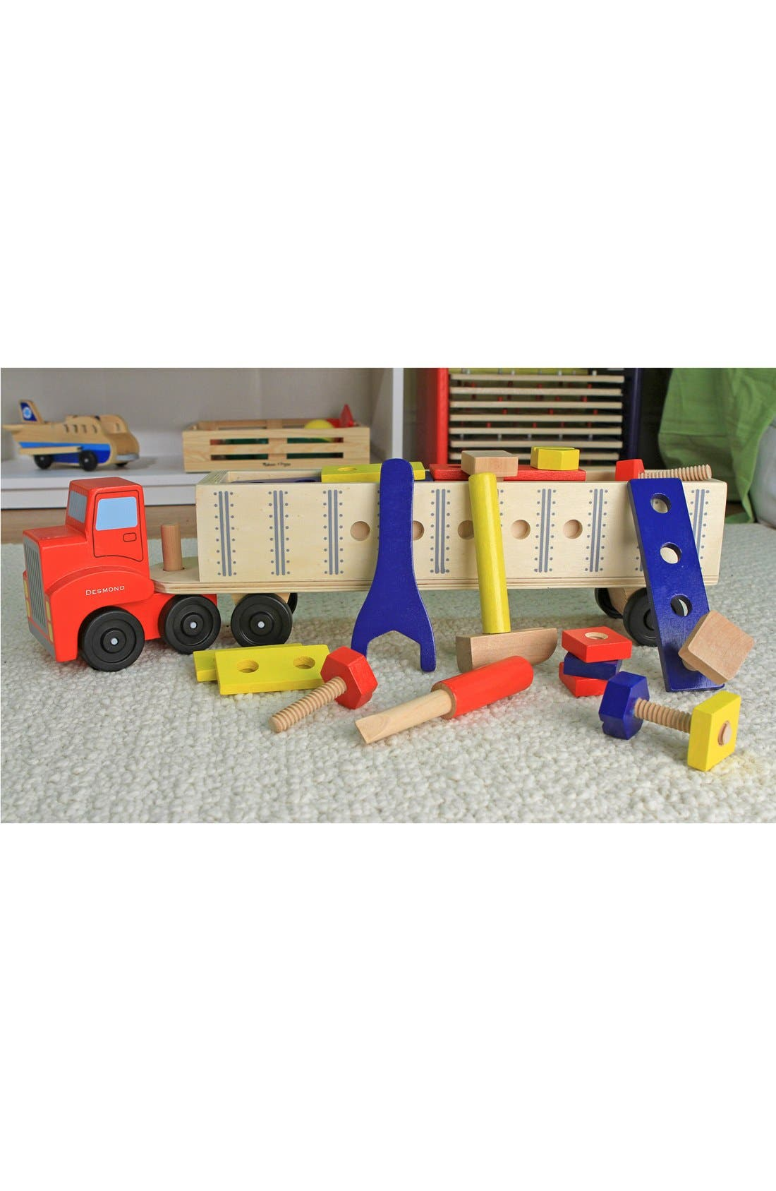 Alternate Image 4  - Melissa & Doug 'Big Rig' Personalized Building Set