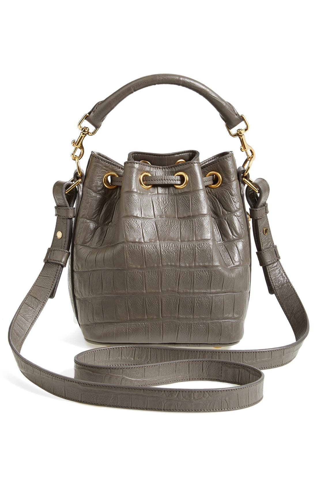 Alternate Image 3  - Saint Laurent 'Small Seau' Croc Embossed Leather Bucket Bag