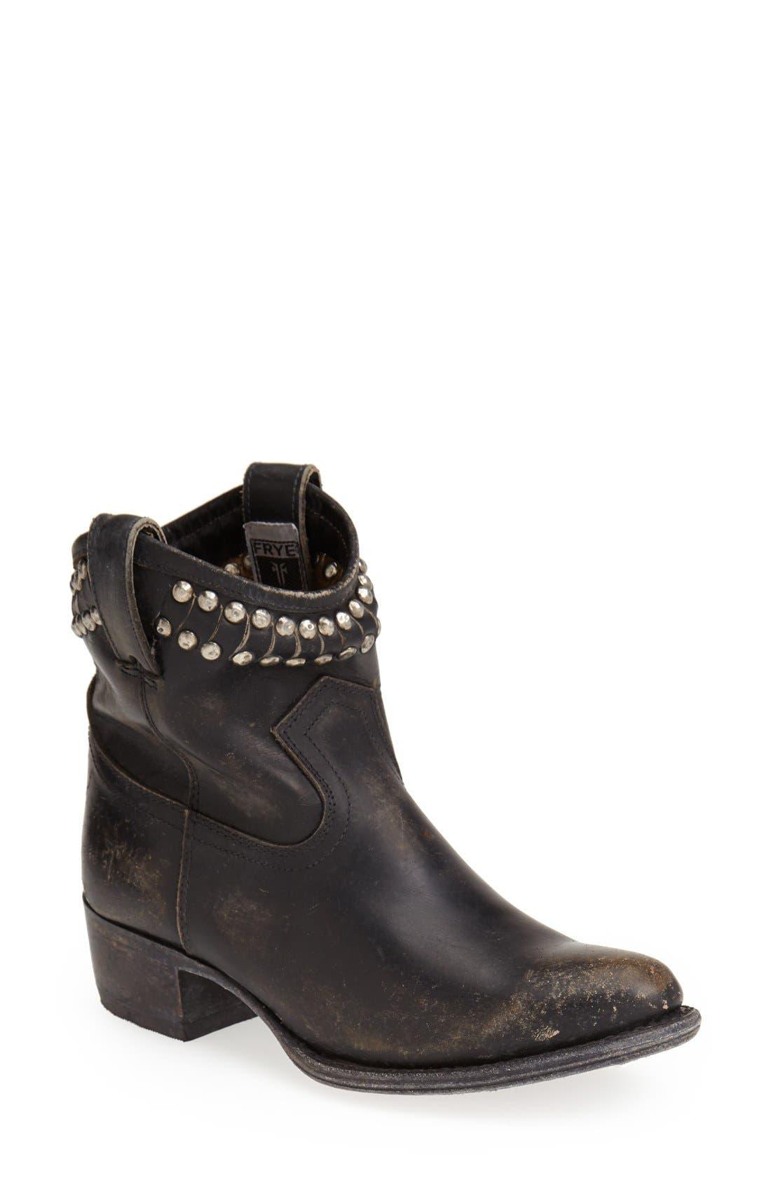 Main Image - Frye 'Diana' Cut & Studded Leather Short Boot (Women)