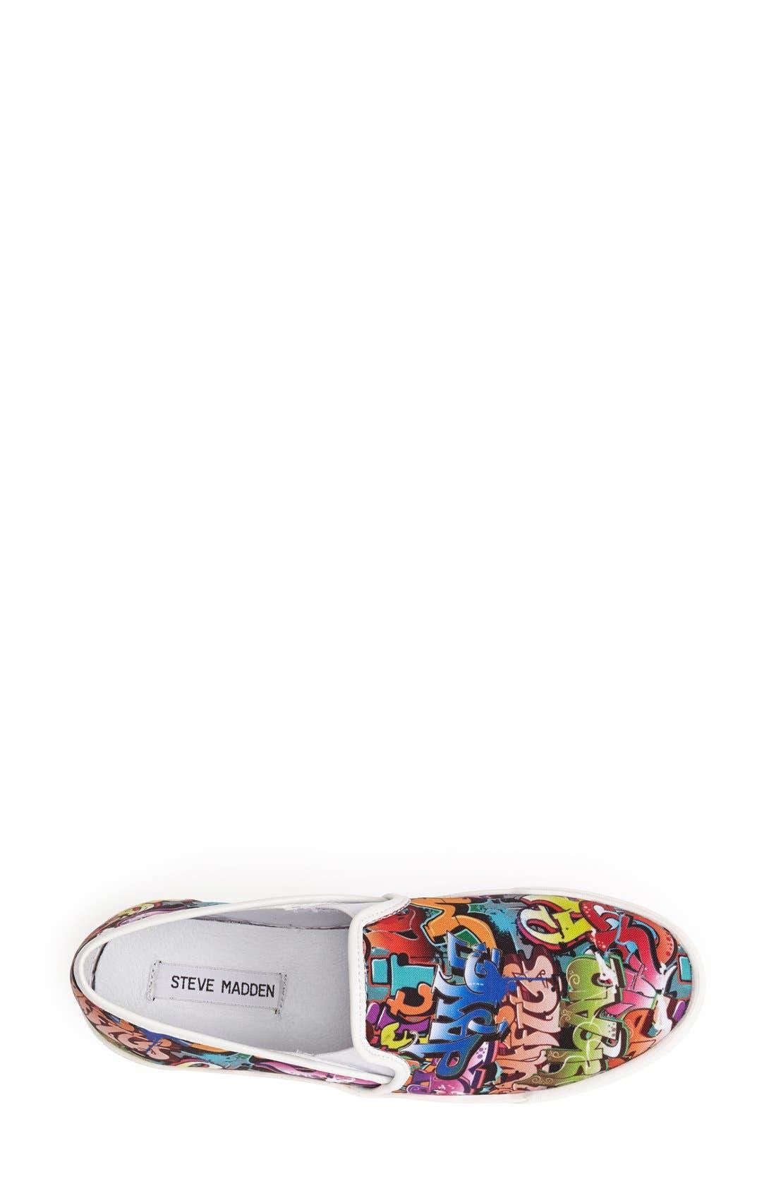 Alternate Image 3  - Steve Madden 'Ecentrcm' Graffiti Print Slip-On Sneaker (Women)